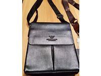 new Men's armani flight Messenger Bag black - boss gant eta iphone samsung