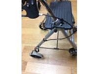 Light weight folding 4 wheeled mobility walking frame / walker / rollator aid