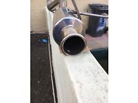 Ep3 type r stainless exhaust