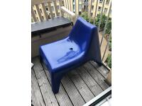 2x IKEA Vågö outdoor blue chair
