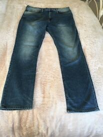 """MARKS AND SPENCER STRAIGHT LEG JEANS NEW AND WITH TAGS. 36""""WAIST 33"""" LENGTH"""