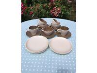 Poole Pottery Twintone C54 'Cafe Au Lait' Set