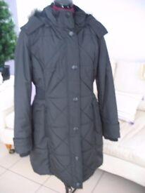 Black full length coat size M BN