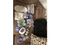 Huge breastfeeding bundle. Lansinoh double electric pump
