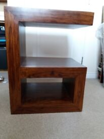 Small table made from real wood, slightly unusual as you can see.Excellent condition