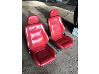 Red leather heated seats , camper, hot rod