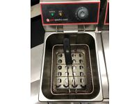 Electric Double Tank Fryer with Double Basket
