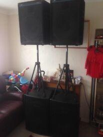 Disco/pa speakers