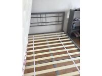 Double bed, 1 year old, excellent condition.