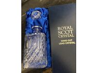 Royal Scot Crystal Decanter.