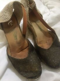 Ankle Strap Espadrille - well worn and loved shoes - Size 6.5