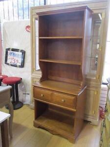 *MUST GO!* Vintage Solid Maple 2-PC Bookcase $279 (was $399) - Used -