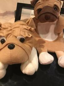 pug hot water bottle cover and pyjama case