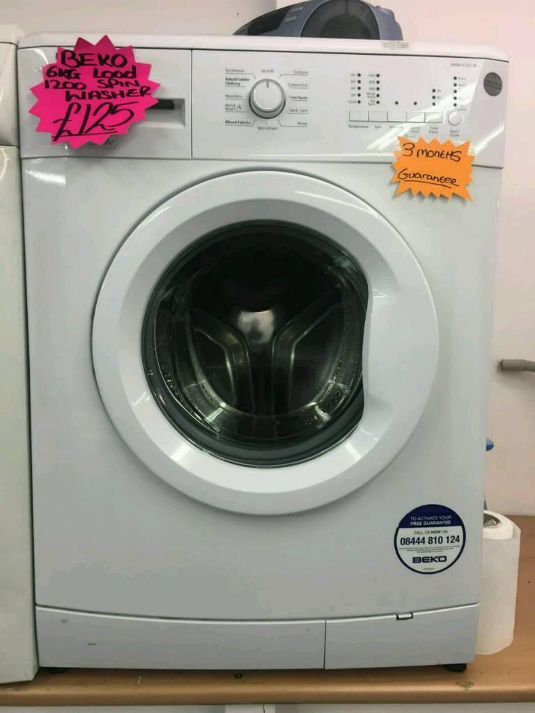BEKO 6KG 1200 SPIN WASHING MACHINE IN WHITE