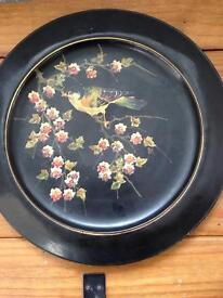 Bretby hand painted charger vintage large 1745 well stamped