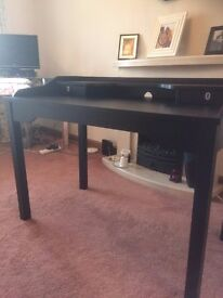Desk for sale...nice black desk in excellent condition 1100w x 600d x 850h. Great for home use