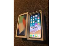 IPHONE X 64GB SILVER BOXED NEW CABLE CHARGER