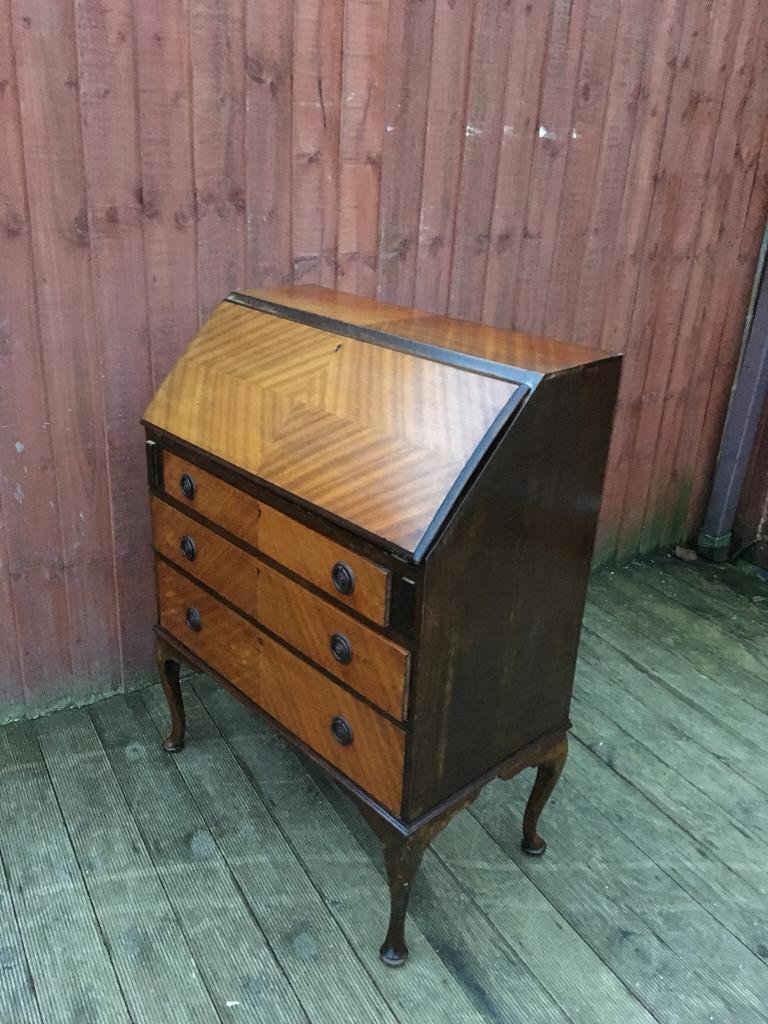 Vintage wooden bureau, bargain free delivery
