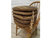 Four Ercol Windsor Seat Pads (DELIVERY AVAILABLE)