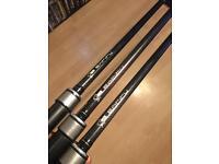Nash Entity Carp fishing rods 12ft 3lb tc