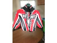 Junior motocross clothing, Wulfsport Kids Ride Jacket and trousers