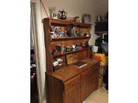 Welsh Type Dresser in Pine 3 drawer 3 door 2 shelves cutout for plates (15mm) 1.37 long 0.46 deep