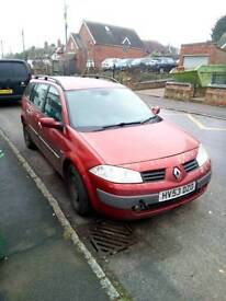 Renault Megane tourer (estate) 1.9 DCI Spares or Repair