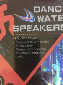 Dancing Water Speakers. Brand New