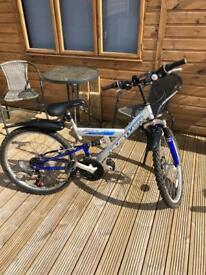 Hustler concept dual suspension kids bike