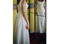 Stunning Wedding Dress / Corset / Bodice / Skirt - Ivory Brocade Lace Up Corset & Skirt - Size 10/12