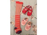 0-6M Baby Girl shoe/tights bundle