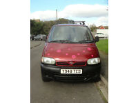 Nissan Vanette E - MWB work van/day van/mini stealth camper/fishing van - Y reg 2001