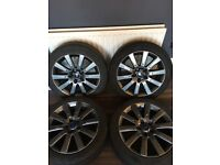 """4 X 17"""" GENUINE FORD FOCUS MONDEO CONNECT S-MAX ALLOYS WITH TYRES NEWLY REFURB"""