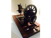 Antique / vintage hand cranked Jones sewing machine not singer