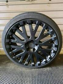 """Kahn Cosworth 19"""" Rims with tyres"""