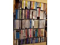 AROUND 1000 CASSETTES - ROCK, HEAVY METAL, RARITIES, BRAND NEW BLANK CHROME TAPES. PAPER LABELS