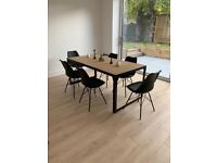 Luxurious Dining Room Table & Chair Set - Including Set up