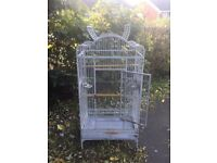 White parrot cage 14 months old £50
