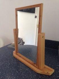 Dressing table mirror - Tilting Pine