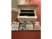 Box 360 Kinect with 4 games