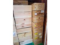 12 bottle size wooden wine box/crate/storage unit - FREE SHIPPING