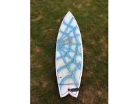 """Circle One Heritage 6'4"""" Quadfin Fishtail Surfboard"""