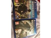 Watch dogs and Watch dogs2 for sale