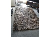 hand woven rug..beige and light grey