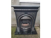 Cast Iron Electric Fireplace and Hearth