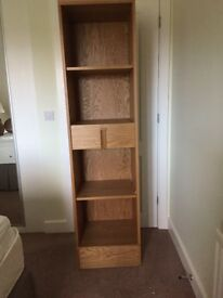 Oak unit M & S Gainsborough as new. 4 shelves 1 drawer