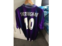 1995-1996 Teddy Sheringham Spurs Shirt with name and number 10