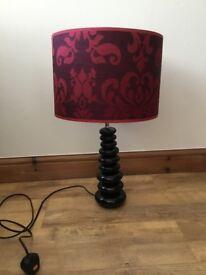 Table lamp ceramic pebbles brown