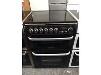 CANNON free standing electric ceramic cooker 60 cm width black nice condition & fully working order
