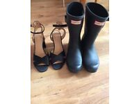 Hunter boots and shoes